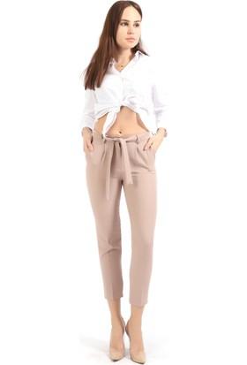 Sense Kadın Beli Kusaklı Kumaş Pantolon Pnt19018