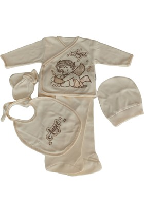Tiasis | Organik Bej Erkek Bebek 5'li Hastane Çıkışı