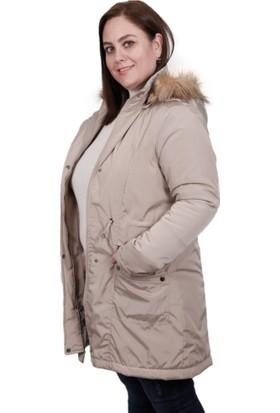 Şems Kapüşonlu Kadın Mont 5019 Taş 29W80005019