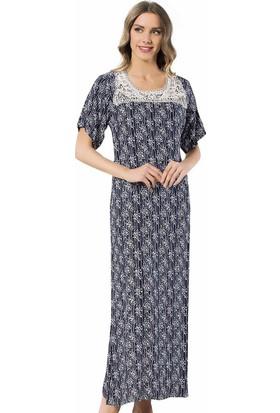Siyah İnci Kadın Desenli Elbise