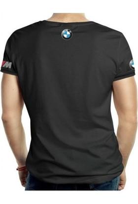 Zenkid Bmw M-Power Bisiklet Yaka Kısa Kollu Siyah Tişört M