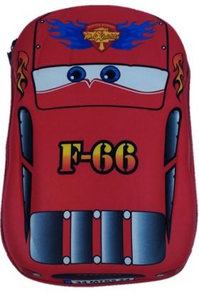 Poyraz Yarış Arabası Kabartmalı Çocuk Kreş Çantası