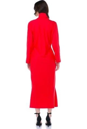 Tantrona Şal Yaka Uzun Abiye Elbise