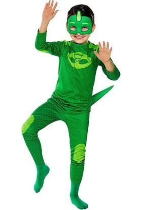 Tarz Kids Pijamaskeliler Kertenkele Çocuk Kostüm 4-12YAŞ