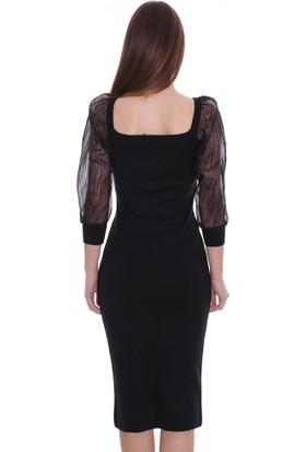 Robin Kadın Triko Elbise T91815 Siyah 29W78091815