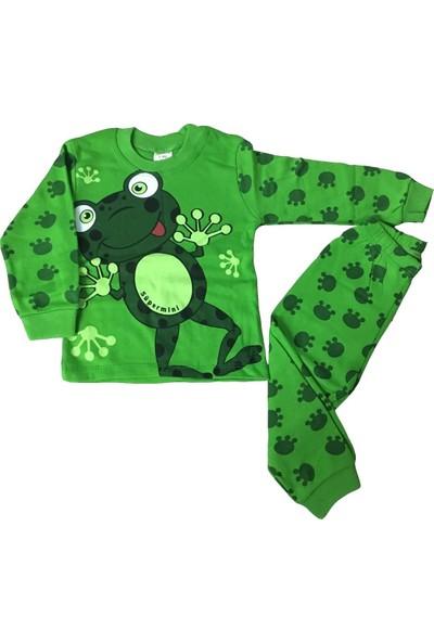 Süper Mini Kurbağa Desenli Pijama Takımı