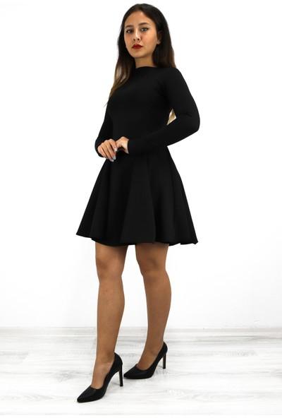 Atlas Kumaş Mini Elbise