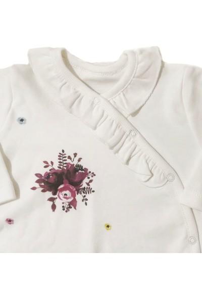 Twetoon Kız Bebek Çiçekli Fırfır Detaylı Tulum