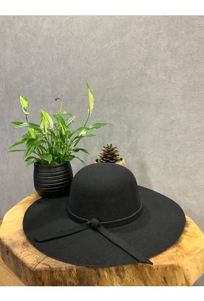 Felice Butik 11200 Yuvarlak Fiyonk Detaylı Siyah Kadın Şapka