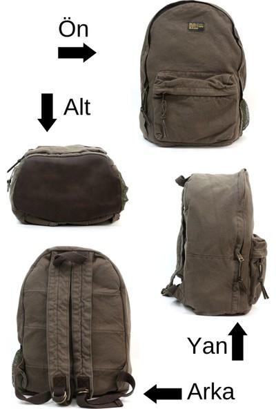 Old Cotton Cargo 7144 Texas Bag Vintage - Retro Laptop - Notebook - Okul - Seyahat - Sırt Çantası