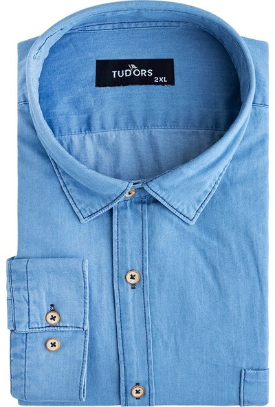 Tudors Büyük Beden Spor Kot Gömlek