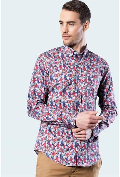 Tudors Slim Fit Likralı Erkek Gömlek