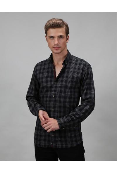 Tudors Klasik Fit Kareli Erkek Kışlık Gömlek