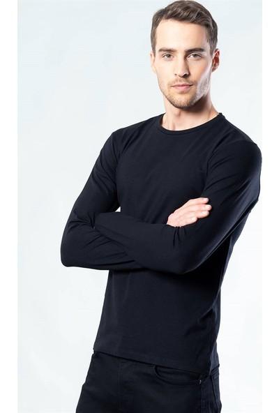 Tudors Siyah Bisiklet Yaka Uzun Kol Sweatshirt
