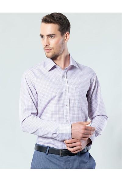 Tudors Klasik Fit Çizgili Erkek Gömlek