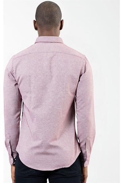 Tudors Slim Fit Long Slv Kışlık Erkek Gömlek