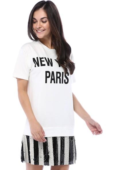 Bebeplus Kadın Etek Uçları Pullu Tunik Elbise