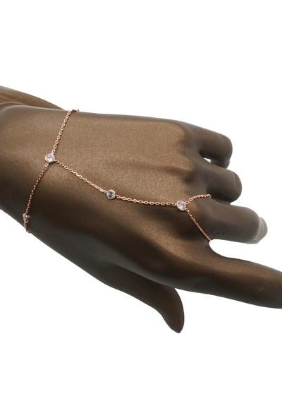 Takı Mağaza 925 Ayar Gümüş Ara Zincirli Zirkon Taşlı Şahmeran
