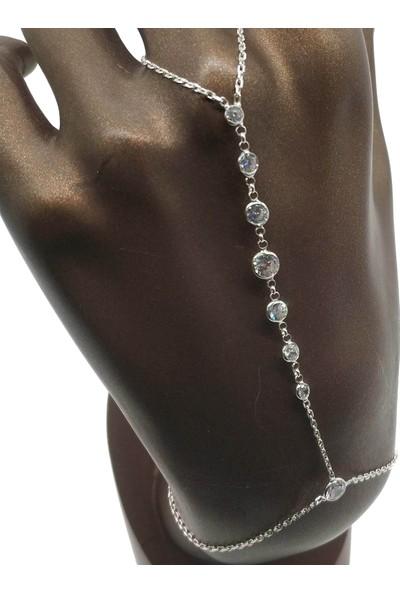 Takı Mağaza 925 Ayar Gümüş Zincirli Zirkon Taşlı Şahmeran