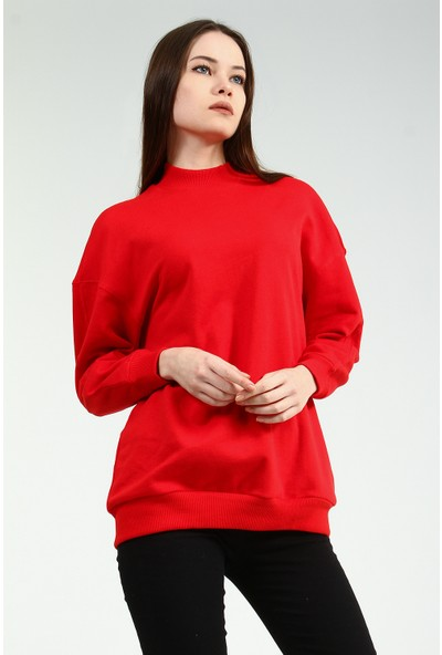 Collezione Kadın Kırmızı Sweatshirt Keunsy