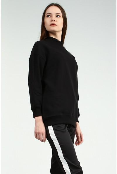 Collezione Kadın Siyah Sweatshirt Keunsy
