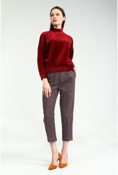 Collezione Kadın Bordo Sweatshirt Delayz