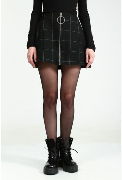 Collezione Kadın Siyah Etek Ayon