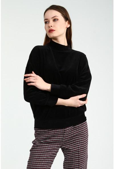 Collezione Kadın Siyah Sweatshirt Delayz