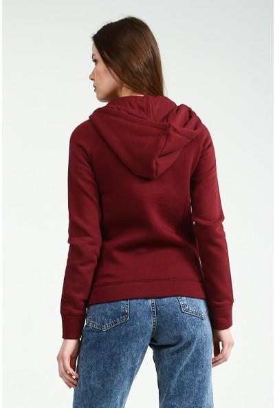 Collezione Kadın Bordo Sweatshirt