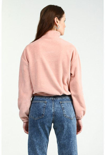 Collezione Kadın Pudra Regular Sweatshirt Raymel-1098