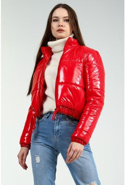 Collezione Kadın Kırmızı Regular Şişme Mont