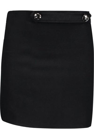 Collezione Kadın Siyah Regular Etek