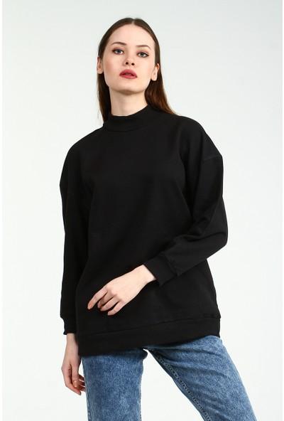 Collezione Kadın Siyah Regular Sweatshirt Keunsy