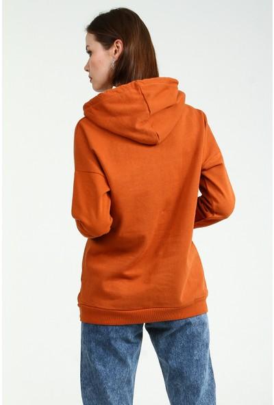 Collezione Kadın Kiremit Regular Collezione Sweatshirt Jalar