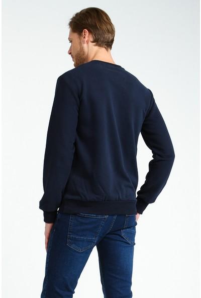 Collezione Erkek Lacivert Regular Sweat Shirt