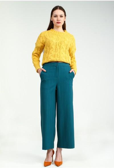 Collezione Kadın Zümrüt Regular Pantolon