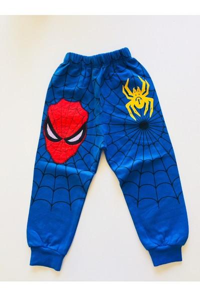 Spiderman Eşofman Takımı Örümcek Adam Kostümü Fermuarlı Maskeli Kapüşonlu