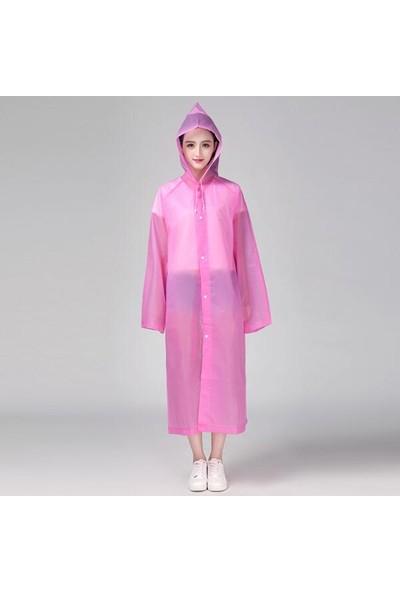 Hepitop Unisex Şık Kıyafet Üstü Su Geçirmez Eva Yağmurluk