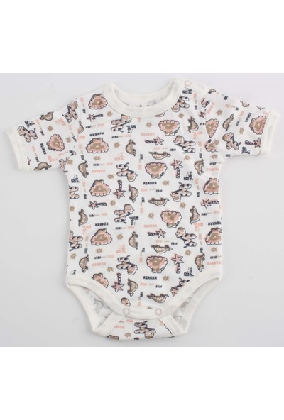 Miniço Miniço Yarım Kol Bebek Çıtçıtlı Body