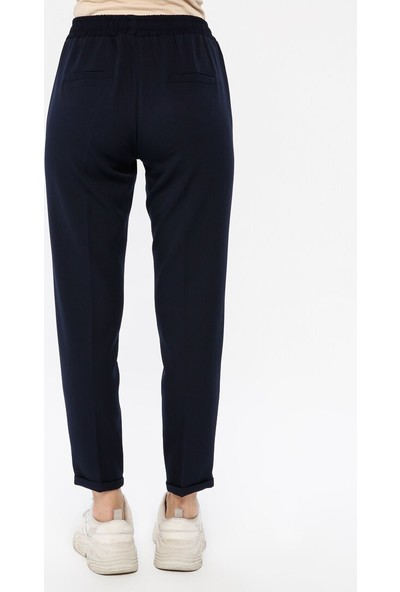 Veteks Line Beli Lastikli Pantolon