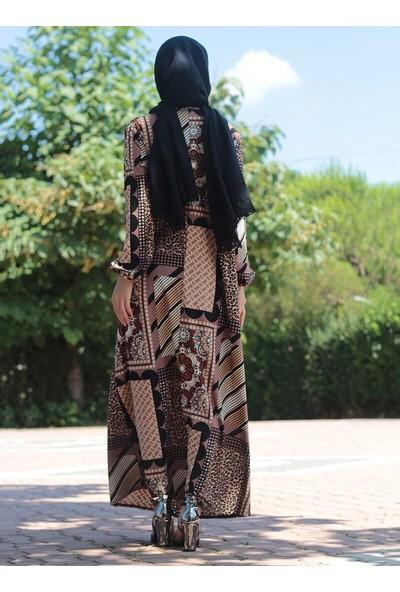 Mileny Gold Kruvaze Simli Abiye Elbise