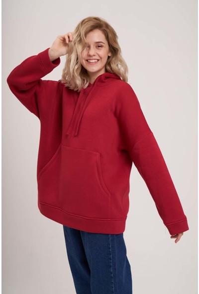 Mizalle Youth 3 İplik Şardonlu Sweatshirt