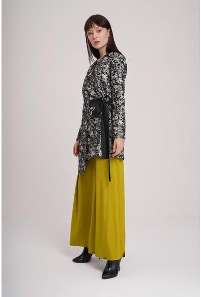 Mizalle Jakarlı Bağlamalı Kimono