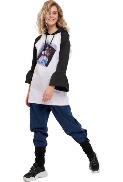 Mizalle Youth Scuba Uzay Baskılı Sweatshirt