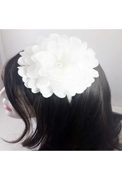 ByOzras Beyaz Çiçekli Taç