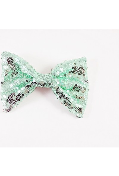 ByOzras Mint Yeşil Pullu Fiyonk Toka