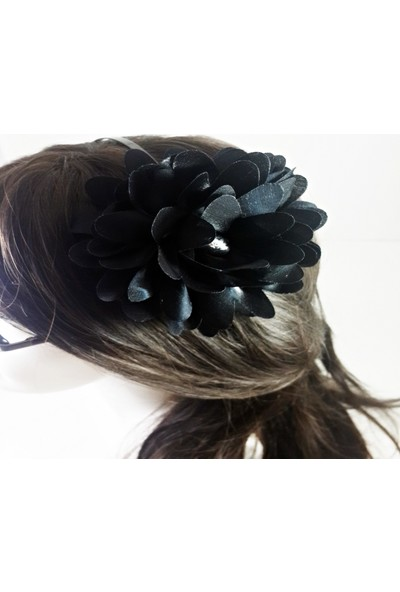 ByOzras Siyah Çiçekli Taç