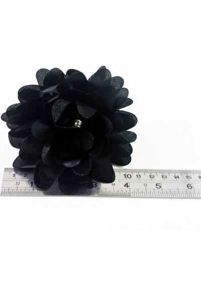 ByOzras Siyah Çiçekli Toka