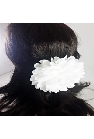 ByOzras Beyaz Çiçekli Toka