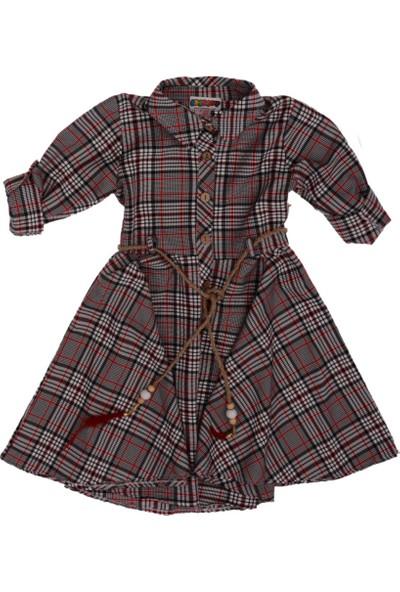 Bebelop Kız Çocuk Ekose Elbise 6 Yaş